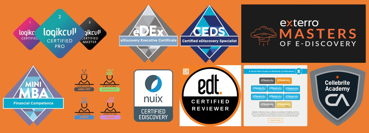 ediscovery certifications